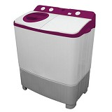 POLYTRON Mesin Cuci Twin Tub [PWM 8556WR] - Red - Mesin Cuci Twin Tub